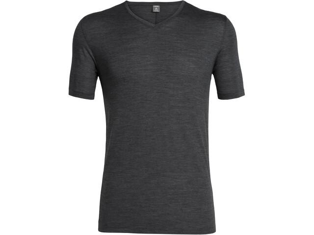 Icebreaker Solace T-shirt col en V Homme, black heather